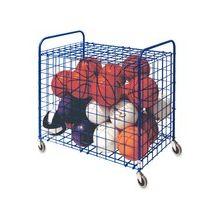 "Champion Sport Lockable Ball Storage Locker - Steel - 36"" Length x 24"" Width x 36"" Height - Blue"