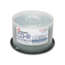 SKILCRAFT CD Recordable Media - CD-R - 52x - 700 MB - 1 Pack Spindle - 120mm - Printable - Thermal Printable - 1.33 Hour Maximum Recording Time