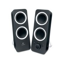 Logitech 2.0 Speaker System - Black - LED Indicator