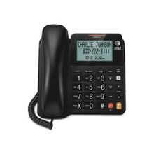 AT&T CL2940 Standard Phone - Black - Corded - 1 x Phone Line - Speakerphone - Hearing Aid Compatible