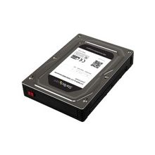 """StarTech.com 2.5"""" to 3.5"""" SATA Aluminum Hard Drive Adapter Enclosure with SSD/HDD Height up to 12.5mm - 1 x Total Bay - 1 x 2.5"""" Bay"""