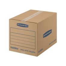 """Fellowes SmoothMove Basic Moving Boxes, Small - Internal Dimensions: 12"""" Width x 16"""" Depth x 12"""" Height - External Dimensions: 12.3"""" Width x 16.5"""" Depth x 12.6"""" Height - Heavy Duty - Corrugated - Kraft, Black - 25 / Pack"""