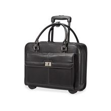 """Samsonite Ladies Business Carrying Case (Briefcase) for 15.6"""" Notebook, iPad, Tablet, Accessories - Black, Mulberry - Polyester - Handle - 12.8"""" Height x 16.5"""" Width x 6"""" Depth"""