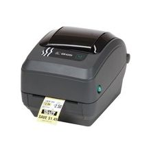 "Zebra GK420t Direct Thermal/Thermal Transfer Printer - Monochrome - Desktop - Label Print - 4.09"" Print Width - 5 in/s Mono - 203 dpi - 8 MB - USB - Serial - Parallel - 4.25"" Label Width - 39"" Label Length"
