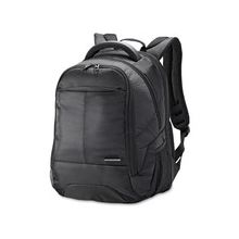 """Samsonite Classic Carrying Case (Backpack) for 15.6"""" Notebook, Accessories, iPad, Bottle, Cable, File, Books, Clothing - Black - Shock Resistant Interior - Ballistic Fabric - Checkpoint Friendly - Handle, Shoulder Strap - 17.8"""" Height x 12.5"""" Width x 9.3"""