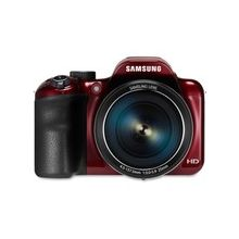"""Samsung WB1100F 16.2 Megapixel Compact Camera - Red - 3"""" LCD - 16:9 - 35x Optical Zoom - 2x - Optical, Digital (IS) - 4608 x 3456 Image - 1280 x 720 Video - HD Movie Mode - Wireless LAN"""