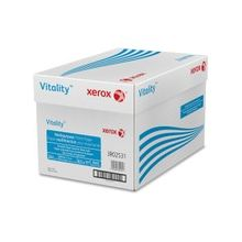 "Xerox Vitality Multipurpose Printer Paper - Letter - 8.50"" x 11"" - 24 lb Basis Weight - 92 Brightness - 5000 / Carton - White"