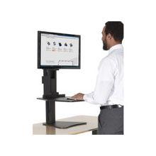 "Victor High Rise Sit-Stand Desk Converter - 15.5"" Height x 28"" Width x 23"" Depth - Desktop - Laminate - Wood, Steel - Black"