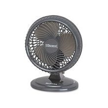 "Holmes HAOF87 Lil Blizzard Oscillating Table Fan - 177.8 mm Diameter - 2 Speed - Adjustable Tilt Head, Oscillating, Quiet, Removable Grill, Lightweight - 11.8"" Height x 8.8"" Width x 8"" Depth - Plastic - Charcoal Gray"