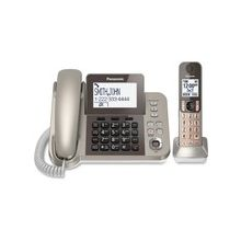 Panasonic KX-TGF350N DECT 6.0 Cordless Phone - Silver, Black - Corded/Cordless - 1 x Phone Line - 1 x Handset - Speakerphone