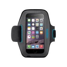 Belkin Sport-Fit Carrying Case (Armband) for iPhone 6 - Blacktop, Topaz - Neoprene - Armband