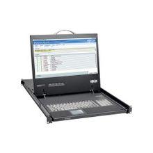 """Tripp Lite Rack Console KVM w/ 19"""" LCD, DVI or VGA Adapter 1U - 1 Computer(s) - 19"""" LCD - 1366 x 768 - 1 x USB - 1 x DVI"""""""