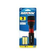 Rayovac Flashlight - Bulb - AA - Rubber, Aluminum - Black, Red
