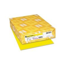 "Exact Brights Copy & Multipurpose Paper - Letter - 8.50"" x 11"" - 50 lb Basis Weight - Smooth - 500 / Pack - Bright Yellow"