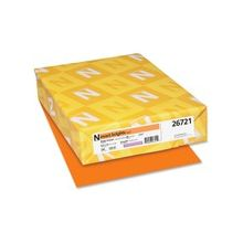 "Exact Brights Copy & Multipurpose Paper - Letter - 8.50"" x 11"" - 50 lb Basis Weight - Smooth - 500 / Pack - Bright Orange"
