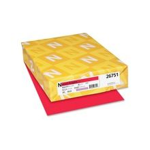 "Exact Brights Copy & Multipurpose Paper - Letter - 8.50"" x 11"" - 50 lb Basis Weight - Smooth - 500 / Pack - Bright Red"