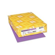 "Exact Brights Copy & Multipurpose Paper - Letter - 8.50"" x 11"" - 50 lb Basis Weight - Smooth - 500 / Pack - Bright Purple"