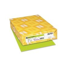 "Exact Brights Copy & Multipurpose Paper - Letter - 8.50"" x 11"" - 50 lb Basis Weight - Smooth - 500 / Pack - Bright Green"