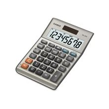 "Casio MS-80B Simple Calculator - Extra Large Display, Dual Power, Rubber Feet, Key Rollover, 3-Key Memory, Sign Change, Easy-to-read Display, Independent Memory - Battery, Solar Powered - 5.8"" x 4.1"" x 1.1"" - Metal, Plastic - 1 Each"