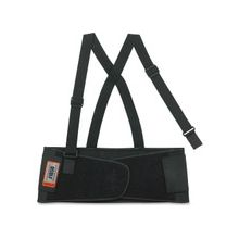 "ProFlex Economy Elastic Back Support - Adjustable, Strechable, Comfortable - Strap Mount - 7.5"" - Black"