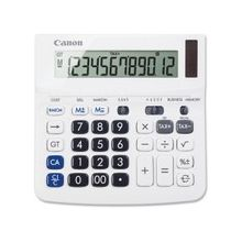 """Canon TX-220TS Handheld Display Calculator - Tilt Display, Adjustable Display, Dual Power, Easy-to-read Display, Auto Power Off, Sign Change - Battery/Solar Powered - 1.2"""" x 5.7"""" x 5.7"""" - White - 1 Each"""
