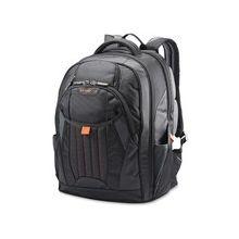 """Samsonite Tectonic 2 Carrying Case (Backpack) for 17"""" Notebook - Black, Orange - Shock Resistant Interior, Slip Resistant Shoulder Strap - Poly Ballistic - Shoulder Strap, Handle - 18"""" Height x 13.3"""" Width x 8.6"""" Depth"""