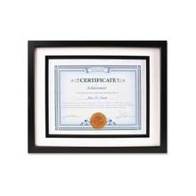 """Dax Airfloat Certificate Frame - 8.50"""" x 11"""" Frame Size - Rectangle - Wall Mountable - Horizontal, Vertical - Glass, Hardboard, Solid Wood - Black"""