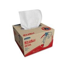 Wypall Detail Wipers - For Electronic Equipment - Durable, Absorbent, Abrasion Resistant, Puncture Resistant - 1400 / Carton - White