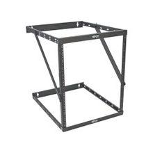 "Tripp Lite 8U 12U 22U 2 Post Open Frame Rack Cabinet Expandable 23.5"" Depth Wall Mount - 19"" 22U Wide x 23.50"" Deep Wall Mountable for UPS, Patch Panel, LAN Switch - Black Powder Coat - Steel - 150 lb x Maximum Weight Capacity"