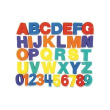 """ChenilleKraft Letters/Numbers Paint Sponges Set - 26 Uppercase Letters, 10 Numbers - Durable - 3"""" Height - Assorted - Foam - 36 / Set"""