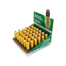 Dixon Latex-free Pencil-shape Eraser - Latex-free, Smudge-free, Non-toxic - 36/Box - Yellow