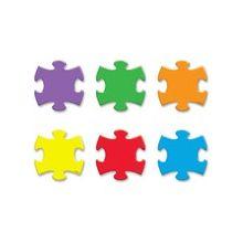"Trend Mini Puzzle Pieces Accent Varitey Pack - Fun Theme/Subject - Durable, Precut, Reusable - 3"" Height - Multicolor - 36 / Pack"