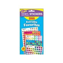 Trend Everyday Favorites Stickers - Fun Theme/Subject - Self-adhesive - Happy Apples, Helping Hands, Puzzle Praisers, Rainbow Gel, Star Medley - Acid-free, Fade Resistant, Non-toxic, Photo-safe - Multicolor - 2500 / Pack