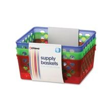 OIC Achieva Supply Baskets - Red, Green, Blue
