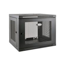 """Tripp Lite 9U Wall Mount Rack Enclosure Server Cabinet Low Profile Deep - 19"""" 9U Wide x 20.50"""" Deep Wall Mountable for LAN Switch, Patch Panel - Black - 200 lb x Maximum Weight Capacity - 200 lb x Static/Stationary Weight Capacity"""