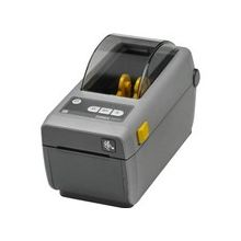 "Zebra ZD410 Direct Thermal Printer - Monochrome - Desktop - Label/Receipt Print - 2.20"" Print Width - 4.02 in/s Mono - 300 dpi - 256 MB - Bluetooth - USB - Ethernet - Roll Fed, Continuous Receipt, Receipt, Tag Stock, Fanfold, Black Mark, Direct Thermal L"
