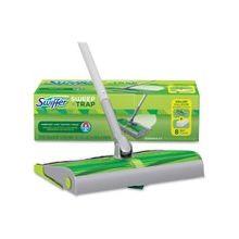 Swiffer Sweep/Trap Sweeping Kit - 1 Kit - Green, Silver