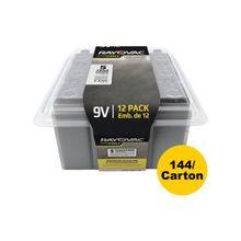 Rayovac Ultra Pro Alkaline 9 Volt Batteries - 9V - Alkaline - 9 V DC - 144 / Carton
