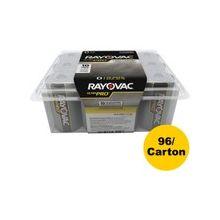 Rayovac Ultra Pro Battery - D - Alkaline - 96 / Carton