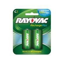Rayovac Recharge Plus C Batteries - 3000 mAh - C - Nickel Metal Hydride (NiMH) - 12 / Carton