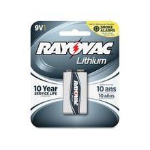 Rayovac 9V Lithium Battery - 9V - Lithium (Li) - 9 V DC - 12 / Carton