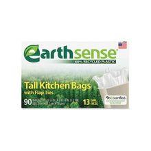 "Webster Earth Sense 13-gal Tall Kitchen Bags - Medium Size - 13 gal - 23.50"" Width x 29.75"" Length x 0.70 mil (18 Micron) Thickness - Low Density - 540/Carton - 90 Per Box"