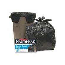 "Webster Handi-Bag Wastebasket Bags - 30 gal - 29"" Width x 36"" Length x 0.70 mil (18 Micron) Thickness - Black - Hexene Resin - 360/Carton - 60 Per Box - Home, Office"