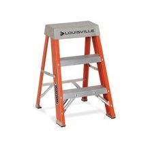 "Louisville Davidson Ladders 2' Fiberglass IA Step Ladder - 2 Step - 300 lb Load Capacity - 24"" - Orange"