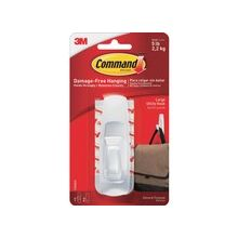 Command Reusable Adhesive Strip Hooks - 5 lb (2.27 kg) Capacity - for Home, Office - White - 1 Pack