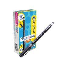 Paper Mate 2-in-1 InkJoy Stylus Pen - Rubber - Black
