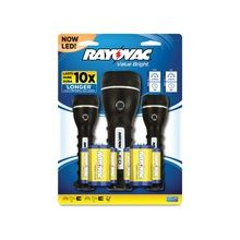 Rayovac Value Bright Flashlight Set - D, AA - Black