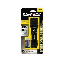 Rayovac Virtually Indestructible LED 3AAA Flashlight - AAA - AluminumCasing, RubberHead, RubberCap - Black