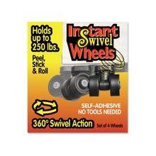 "Master Instant Swivel Wheels - 1.63"" Diameter - 250 lb Load Capacity - Black"