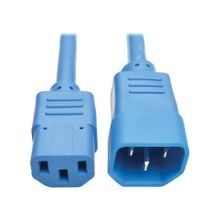 Tripp Lite6ft Heavy Duty Power Extension Cord 15A 14 AWG C14 C13 Blue 6' - For Computer, Scanner, Printer, Monitor, Power Supply, Workstation - 230 V AC Voltage Rating - 15 A Current Rating - Blue